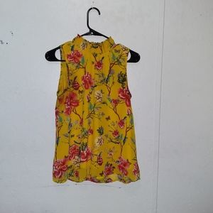 Midnight Sky/ Buetiful Yellow and floral blouse